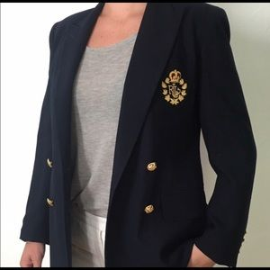Blue Ralph Lauren CLASSIC Blazer with Crest